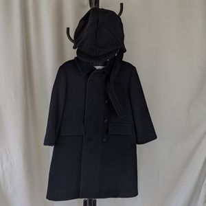 Vintage Child's Distinctive Wool Coat and Flap Hat